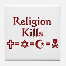 Religion Kills Tile Coaster