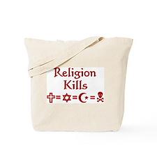 Religion Kills Tote Bag