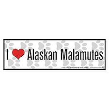 I (heart) Alaskan Malamutes Bumper Bumper Sticker