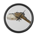 Crucifix on Coffin Large Wall Clock