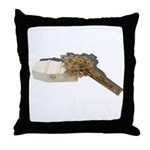 Crucifix on Coffin Throw Pillow