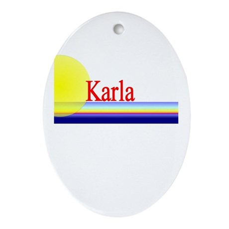 Karla Oval Ornament