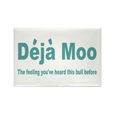 Deja Moo Rectangle Magnet