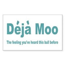 Deja Moo Rectangle Decal