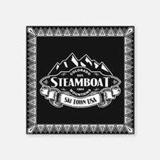 "Steamboat Mountain Emblem Square Sticker 3"" x 3"""