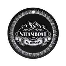Steamboat Mountain Emblem Ornament (Round)