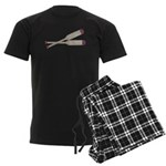 Brown Oars Men's Dark Pajamas
