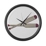 Brown Oars Large Wall Clock