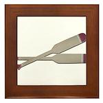 Brown Oars Framed Tile
