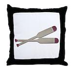Brown Oars Throw Pillow