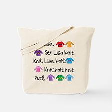 See Lisa Knit Tote
