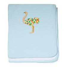 1600 Ostrich baby blanket