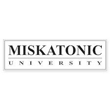 Miskatonic University Bumper Sticker (White)