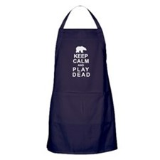 Keep Calm and Play Dead Apron (dark)