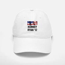 Romney Ryan 12, Waving Flag Baseball Baseball Cap