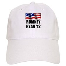 Romney Ryan 12, Waving Flag Baseball Cap