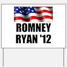 Romney Ryan 12, Waving Flag Yard Sign