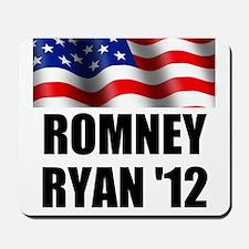 Romney Ryan 12, Waving Flag Mousepad