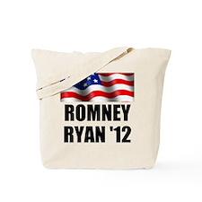 Romney Ryan 12, Waving Flag Tote Bag
