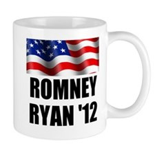 Romney Ryan 12, Waving Flag Mug