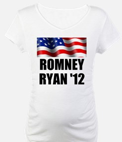 Romney Ryan 12, Waving Flag Shirt
