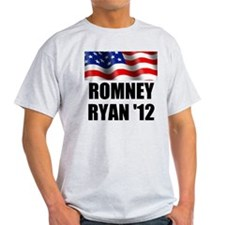 Romney Ryan 12, Waving Flag T-Shirt