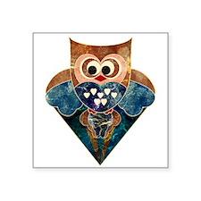 """Soaring Owl Square Sticker 3"""" x 3"""""""