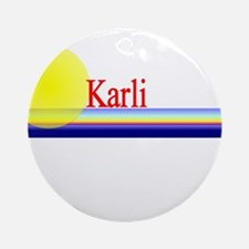 Karli Ornament (Round)