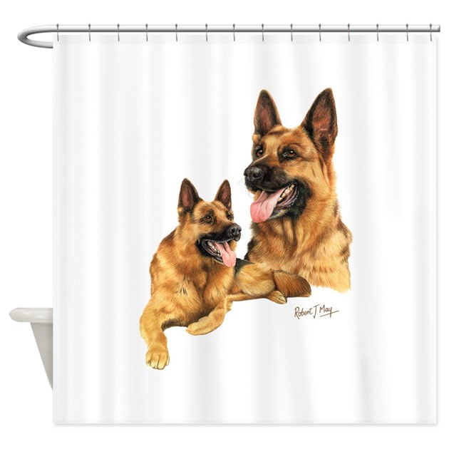 german shepherd shower curtain by robertmaygiftware. Black Bedroom Furniture Sets. Home Design Ideas