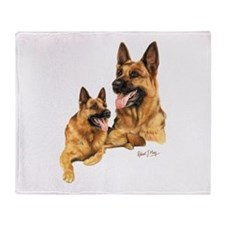 German Shepherd Throw Blanket