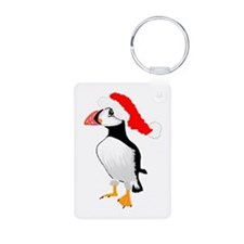 Puffin With Santa Hat.png Keychains