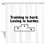 Training vs losing Shower Curtain