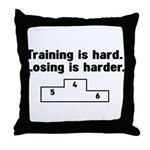Training vs losing Throw Pillow