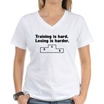 Training vs losing Women's V-Neck T-Shirt