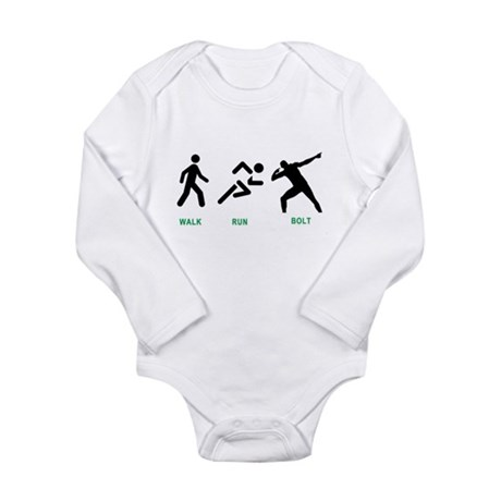 Bolt Jamaica Long Sleeve Infant Bodysuit