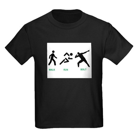 Bolt Jamaica Kids Dark T-Shirt