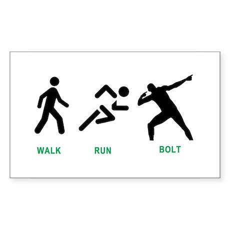 Bolt Jamaica Sticker (Rectangle)