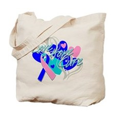 Thyroid Cancer Love Hope Cure Tote Bag