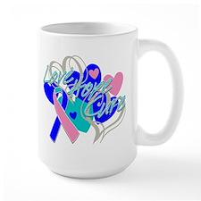 Thyroid Cancer Love Hope Cure Mug