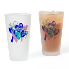 Thyroid Cancer Love Hope Cure Drinking Glass