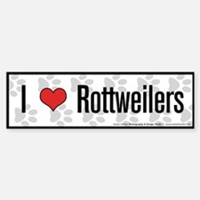 I (heart) Rottweilers Bumper Bumper Bumper Sticker