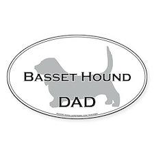 Basset Hound DAD Oval Decal