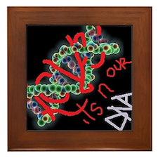 glowing dna love for kids Framed Tile