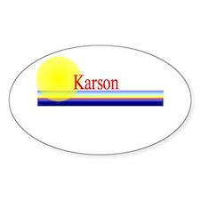 Karson Oval Decal