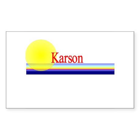 Karson Rectangle Sticker