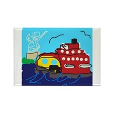 Ferry Rectangle Magnet