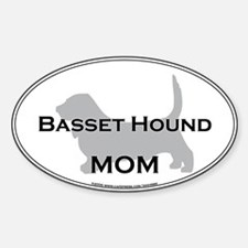 Basset Hound MOM Oval Decal