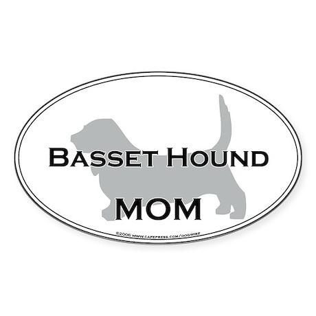 Basset Hound MOM Oval Sticker