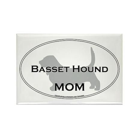 Basset Hound MOM Rectangle Magnet