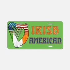 Irish American Harp Aluminum License Plate